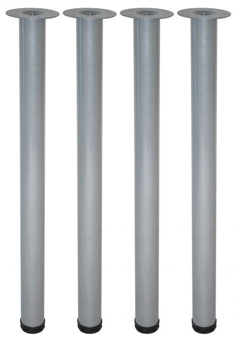 Teräsputkijalkasetti 4 kpl Element System Pyöreä Harmaa alumiini 700 mm ⌀ 60 mm