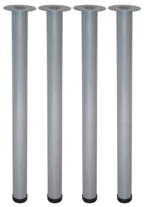 Teräsputkijalkasetti 4 kpl Element System Pyöreä Kromi 700 mm ⌀ 60 mm
