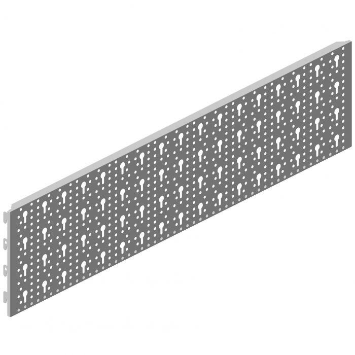 Reikälevy Element System Valkoinen 80 x 20 cm