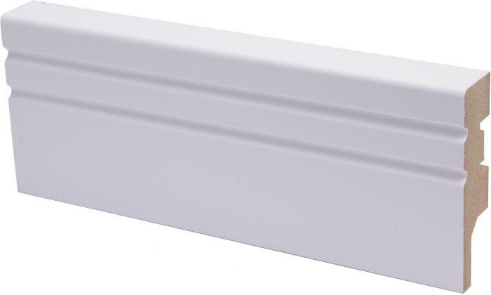Jalkalista Maler Jana 16 x 58 x 2750 mm MDF Puhdas Valkoinen