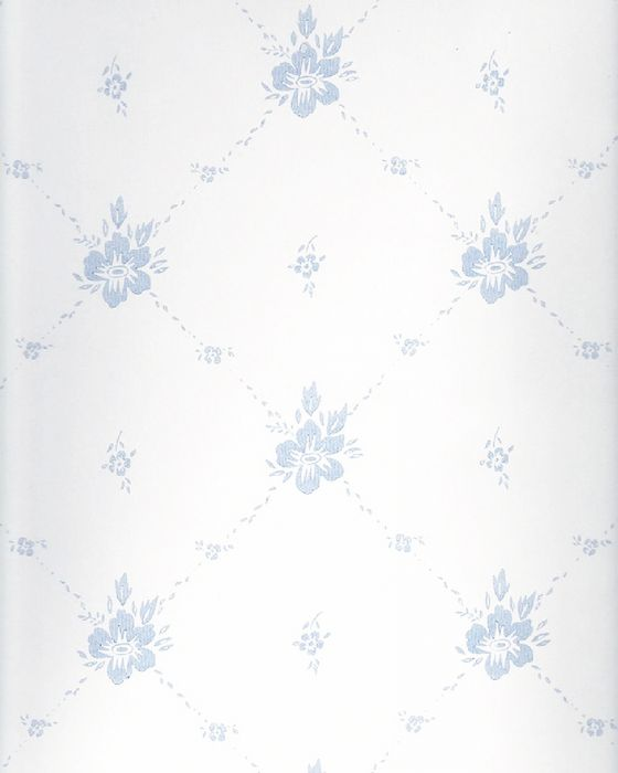Kuitutapetti Sandudd Isoäidin Aikaan Valkoinen/sininen kukka