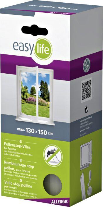 Siitepölyn estokangas allergikoille Easy Life 130 x 150 cm Valkoinen 3 kpl