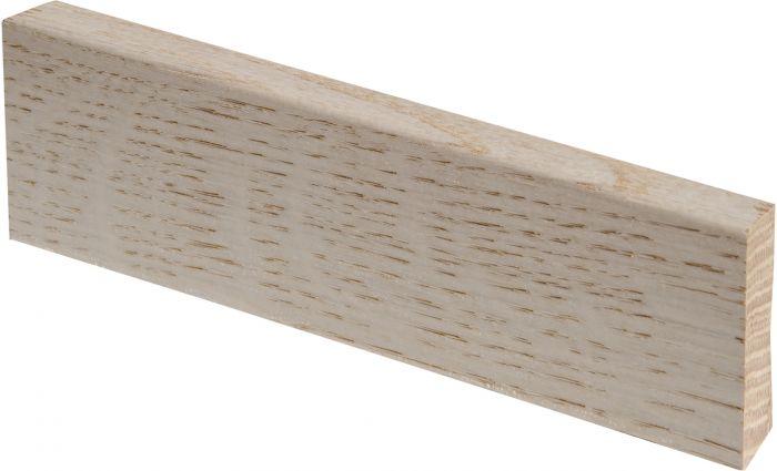 Jalkalista Maler 12 x 42 x 3050 mm jalopuu tammi valkolakattu