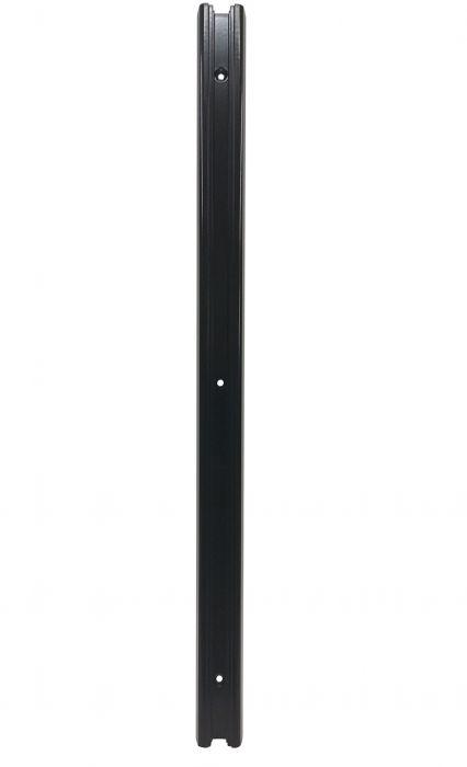 Seinäkisko Musta 600 x 40 x 18 mm