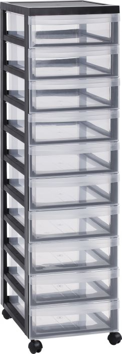 Muovilaatikosto 10 lokeroa 105,5 x 38 x 30 cm