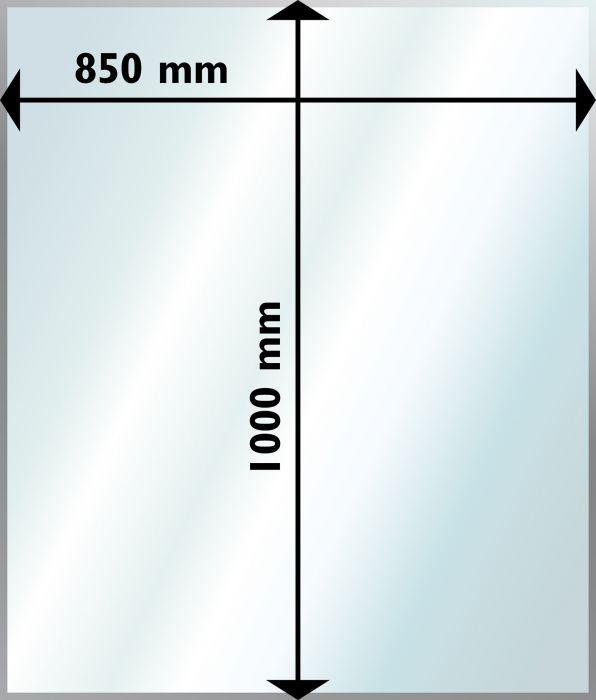 Suojalevy Lattialle Aduro Lasi Suorakaide 850 x 1000 mm