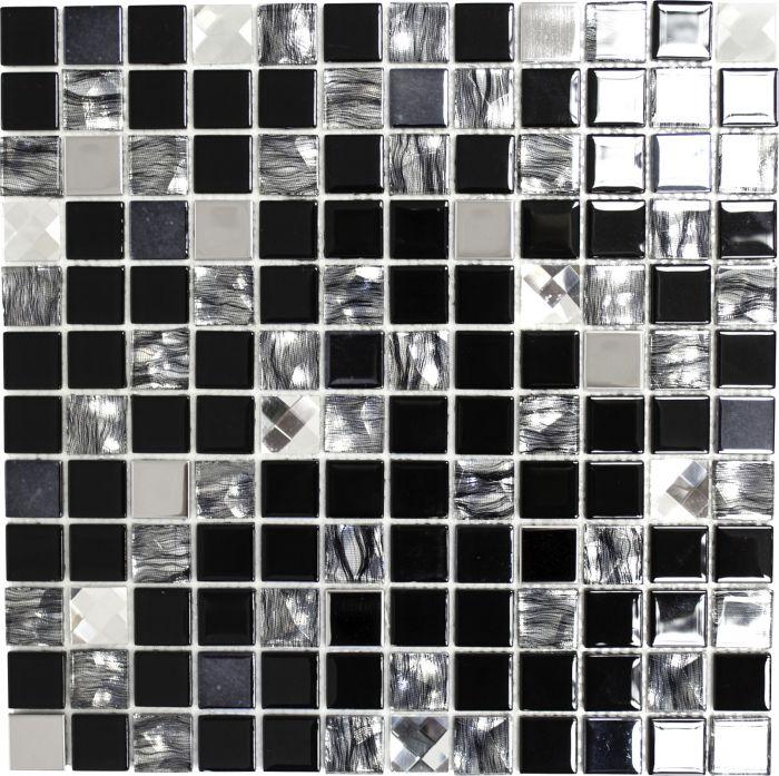 Tarramosaiikki Mix-Musta 30 x 30 cm