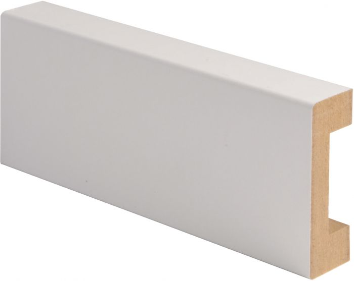 Peitelista Maler MDF Johtoura Valkoinen 19 x 58 x 2200