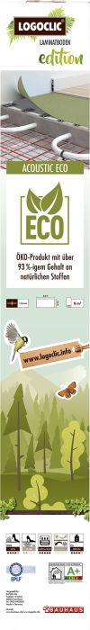 Alusmateriaali Logoclic Edition Acoustic Eco 8 m²