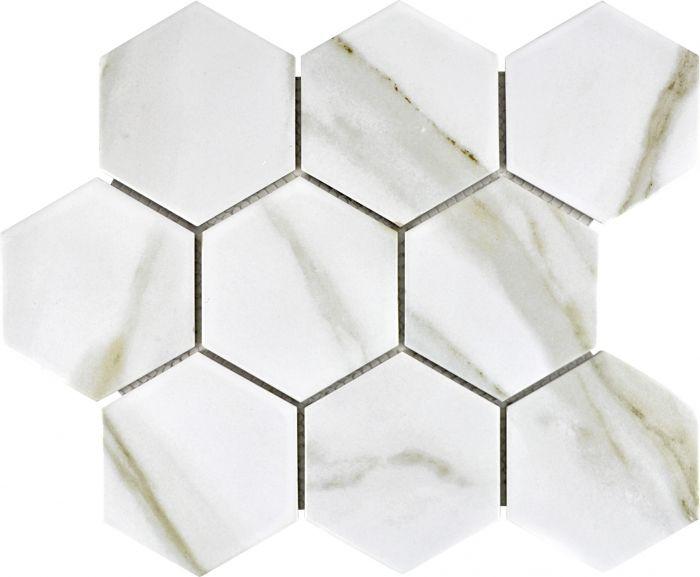 Mosaiikki Hexagon Calacatta