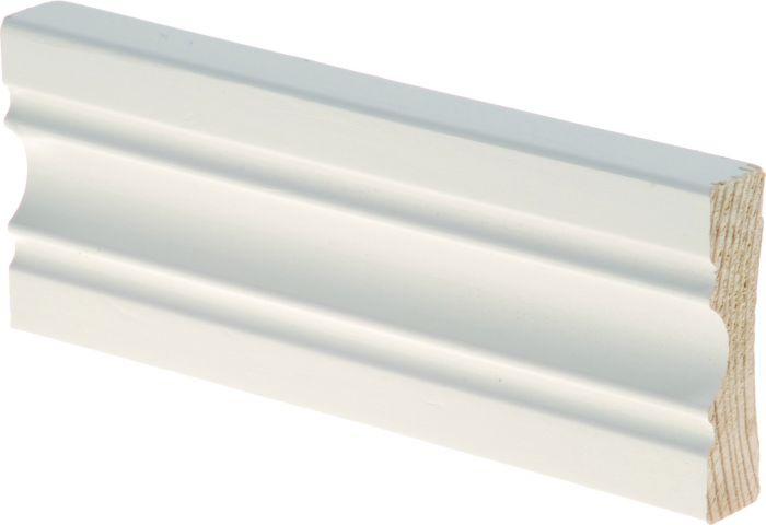 Peitelista Maler Aura 16 x 60 x 2200 mm mänty sormijatkettu valkoinen