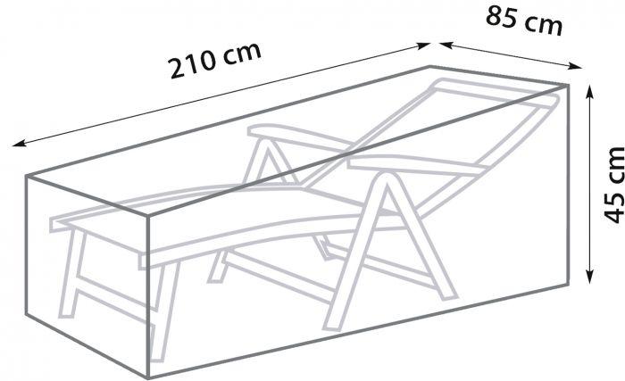 Kalustesuoja SunFun aurinkotuolille 210 x 85 x 45 cm