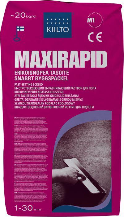 Erikoisnopea Tasoite Kiilto Maxirapid 20 kg
