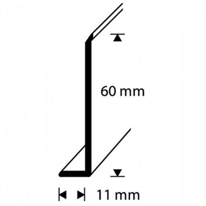 Jalkalista Dione PVC Vaaleanharmaa 60 mm