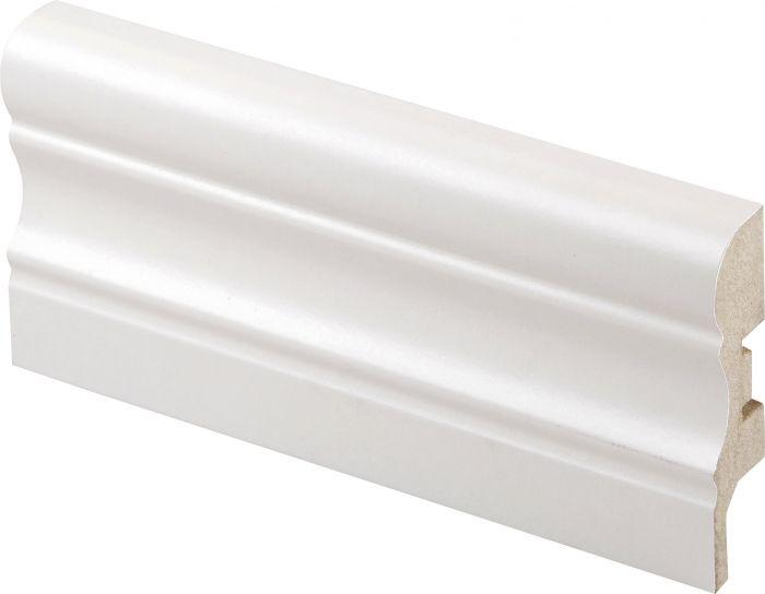 Jalkalista Maler Aura 16 x 60 x 2750 mm MDF Valkoinen