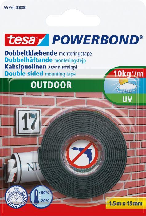 Asennusteippi Tesa PowerBond Outdoor 1,5 m x 19 mm