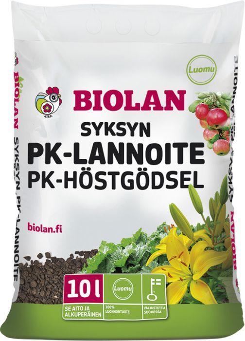 Syksyn PK-lannoite Biolan 10 l