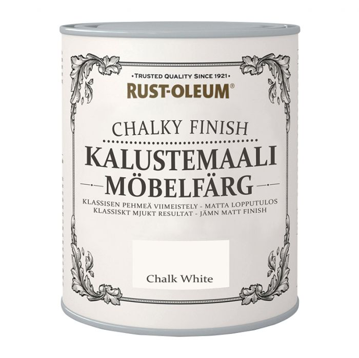 Kalustemaali Rust-Oleum Chalky Finish Chalk White 125 ml