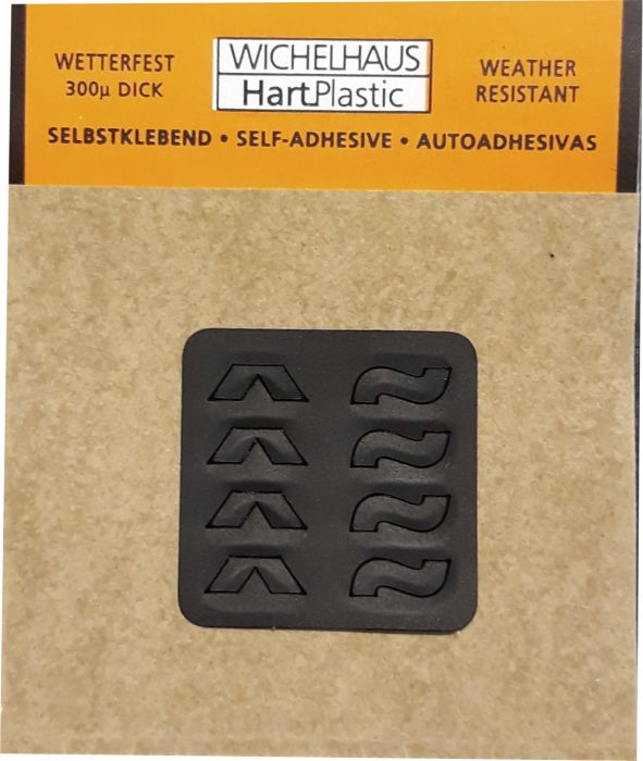 Erikoismerkit Wichelhaus HartPlastic Musta 15 mm