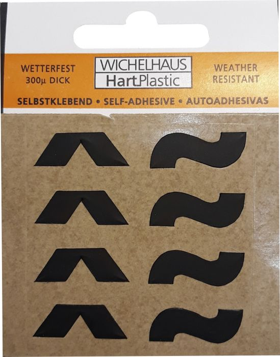 Erikoismerkki Wichelhaus HartPlastic Musta 50 mm