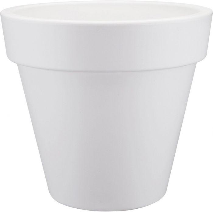 Kukkaruukku Elho Pure Pyöreä Valkoinen 40 cm