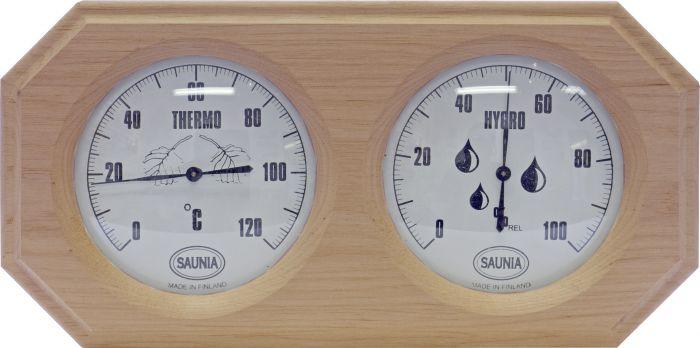 Saunan Kosteus- ja Lämpömittari Tervaleppä