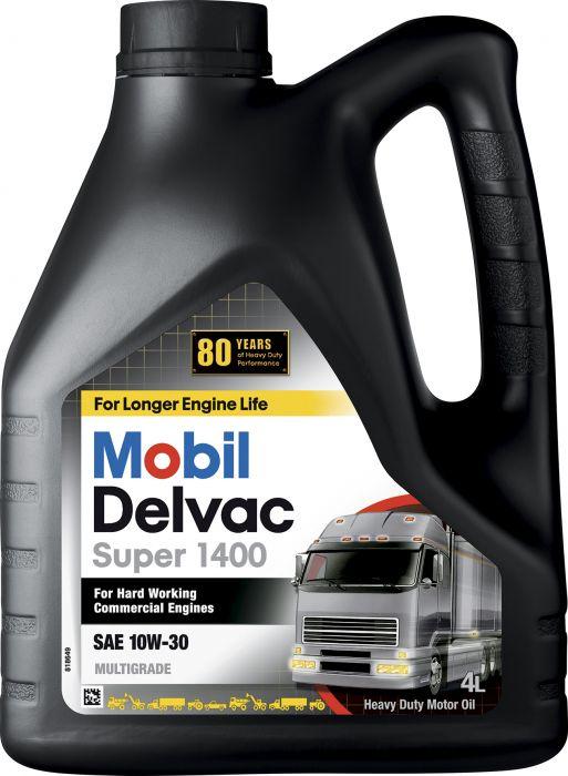 Moottoriöljy Mobil Delvac Super 1400 SAE 10 W-30 4 l