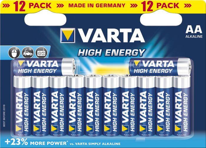 Paristot Varta High Energy AA 12 kpl