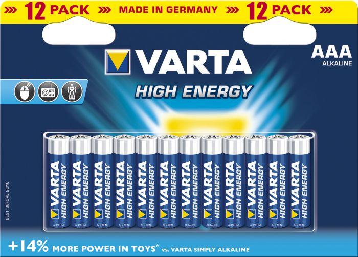 Paristot Varta High Energy AAA 12 kpl