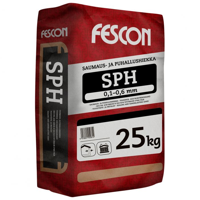 Saumaus- ja puhallushiekka Fescon SPH 25 kg