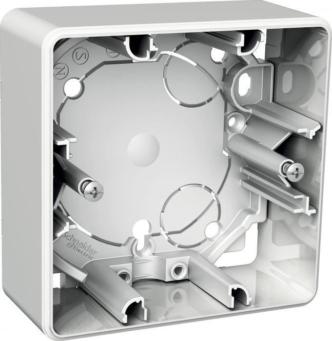 Pinta-asennusrasia Schneider Exxact Valkoinen 1 -osainen 35 mm IP21