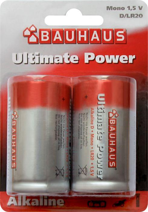 Alkaaliparisto Ultimatepower 1,5 V LR20 2 kpl