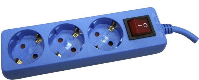 Jatkojohto Opal 3-Os 1,5 m Sininen