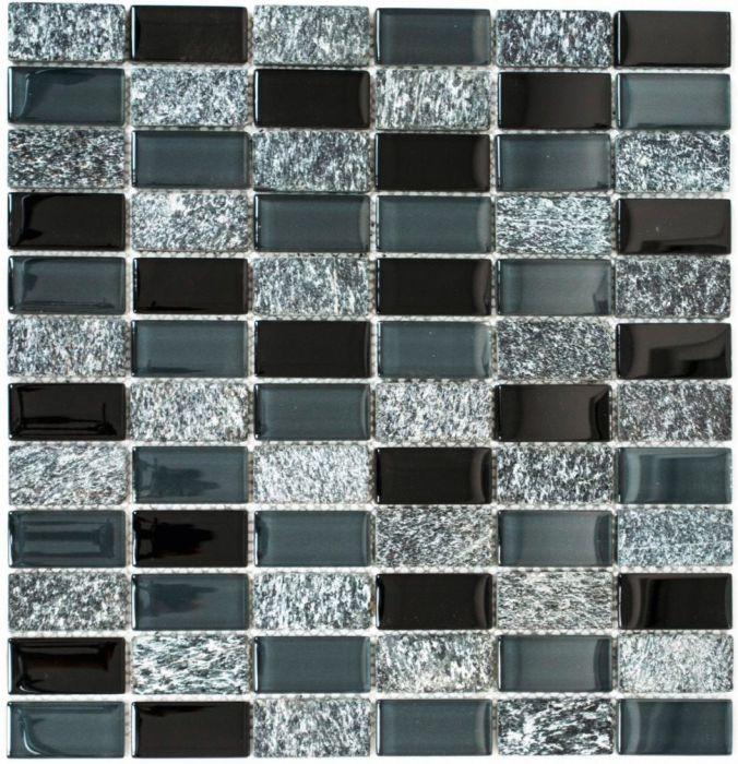 Mosaiikki Crystal Marble Musta
