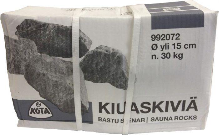 Kiuaskivet Savusaunaan 30 kg yli 15 cm