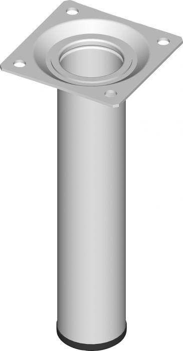Teräsputkijalka Element System Pyöreä valkoinen 150 mm ⌀ 30 mm