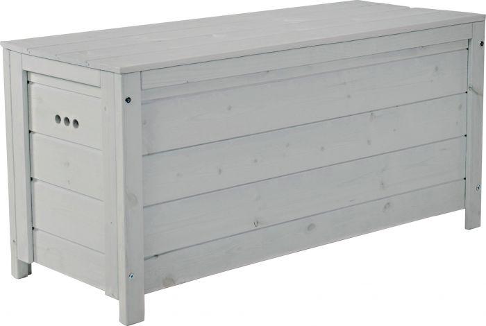 Säilytyslaatikko 117 x 46 x 58 cm vaaleanharmaa