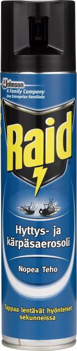 Hyttys- ja kärpäsaerosoli Raid 300 ml