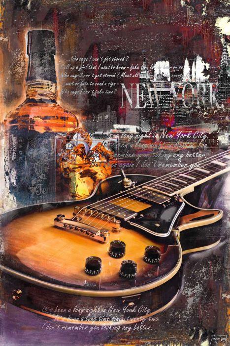 Sisustustaulu Reinders Guitar Blues Night One