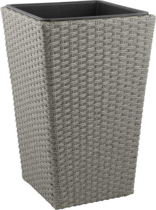 Ulkoruukku polyrottinki 50 cm harmaa