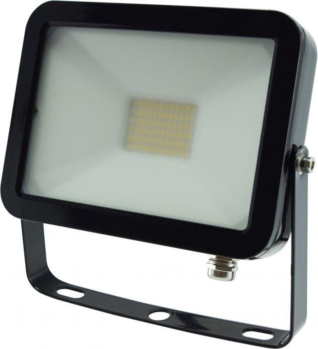 Litteä LED-Valonheitin ElectoGEAR 30 W Musta