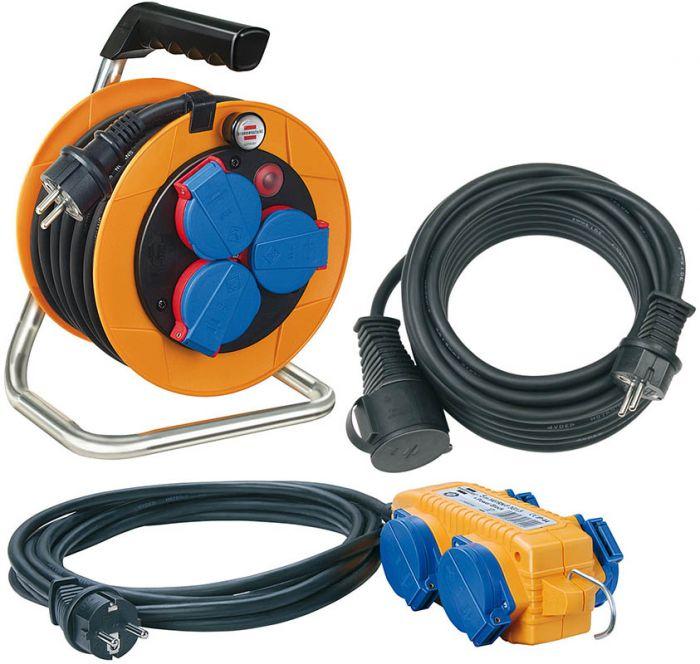 Kaapelikela + jatkojohtosetti Brennenstuhl Power Pack IP44