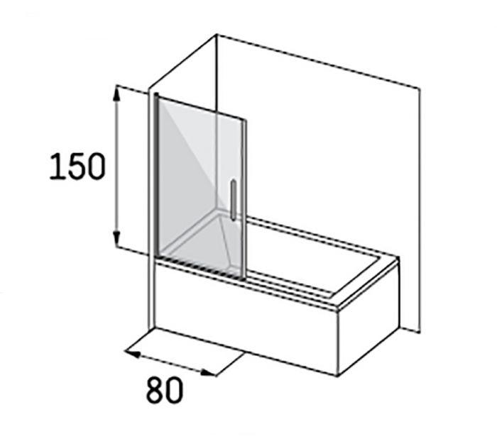 Magneettiprofiili (2 tk) Camargue Skaraborg Combi ammeseinälle 150 cm Satiini