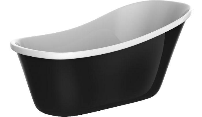 Kylpyamme Camargue Siljan 160 Valkoinen/musta