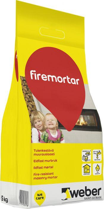 Tulenkestävä Muurauslaasti Weber DIY Firemortar 5kg