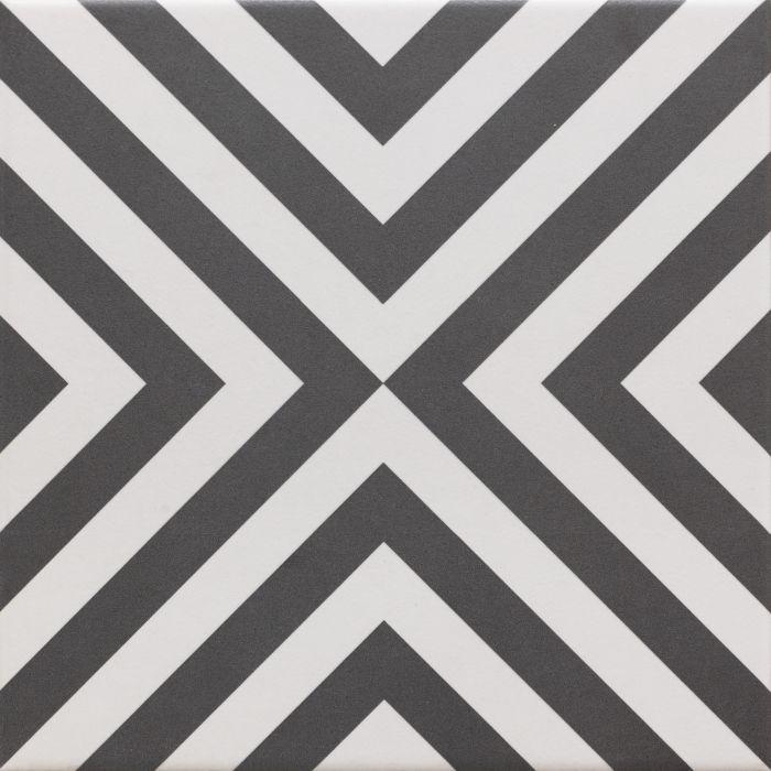 Lattialaatta Retro 20 x 20 cm Zebre