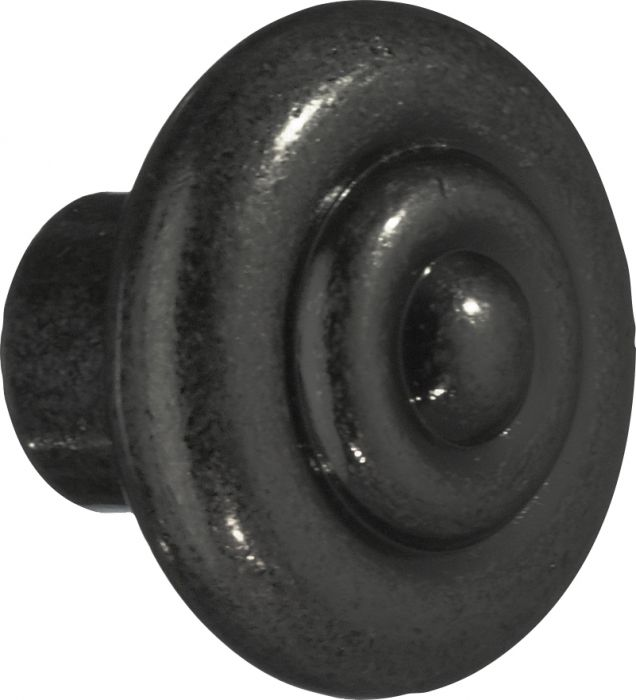 Nuppi Beslagsboden Antique BB080 32 mm Mattamusta