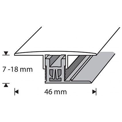 Saumalista Dione 46 mm harmaa tammi 183 cm