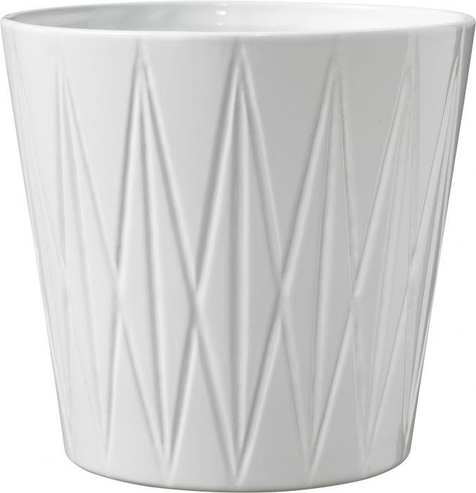 Suojaruukku Visby kiiltävä valkoinen 16 cm