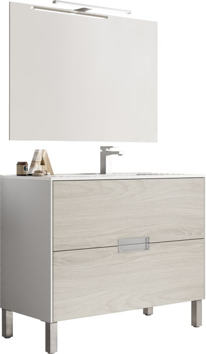 Kylpyhuonekaluste Ordonez Vintage Olmo 100 cm Puu/Valkoinen